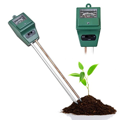 New Creazy 3 in 1 PH Tester Soil Water Moisture Light Test Meter for Garden Plant Flower