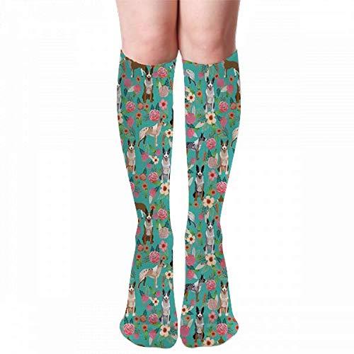 Osmykqe Australischer Koolie Hund Deutscher Kuli, Deutscher Collie, Australi Frauen Männer Winterstiefel Socke Warm Soft