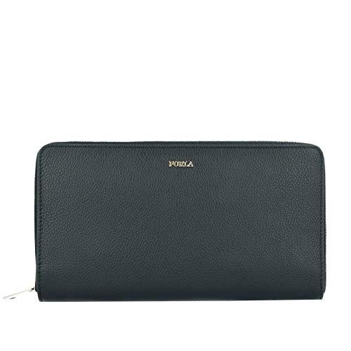 FURLA BABYLON Geldbörse XL mit Reißverschluss aus schwarzem Leder