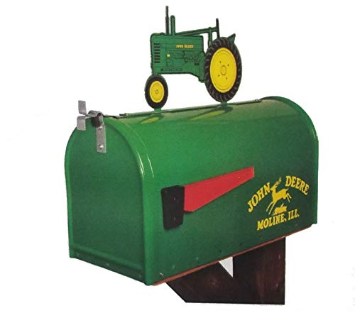 John Deere Model B - Rural Style Mailbox with Tractor Topper