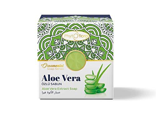 PhytoFlora Aloe Vera Seife Ekzem Peeling Fuss Duft Erweichung Täglichen Gebrauch Duschseife Gesichtsseife Haarseife Seifenbrause für Alle Hauttypen Provitamine B5 Glycerinseife 1 Stück 125gr
