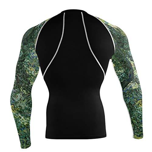 FANTAZIO Van Gogh T-shirt de sport à manches longues pour vélo de montagne - - M
