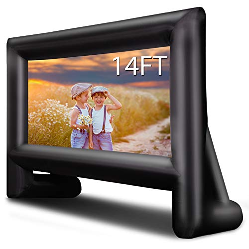 OUTTOY 14 Feet Inflatable Projector Screens, Inflatable Movie Screen Outdoor Blow Up Movie Screens...