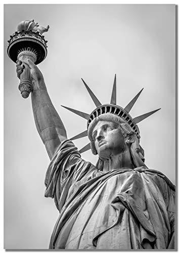 Panorama Póster Estatua de la Libertad 70 x 100 cm - Impreso en Papel 250gr - Póster Pared - Cuadros Decoración Salón - Cuadros Dormitorio - Póster Decorativos - Cuadros Modernos
