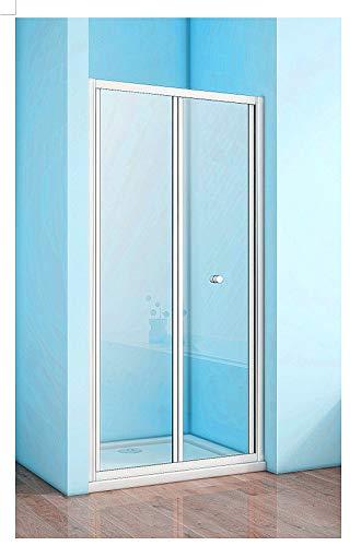 90cm Duschtür Falttür faltwand Duschabtrennung Nischentür