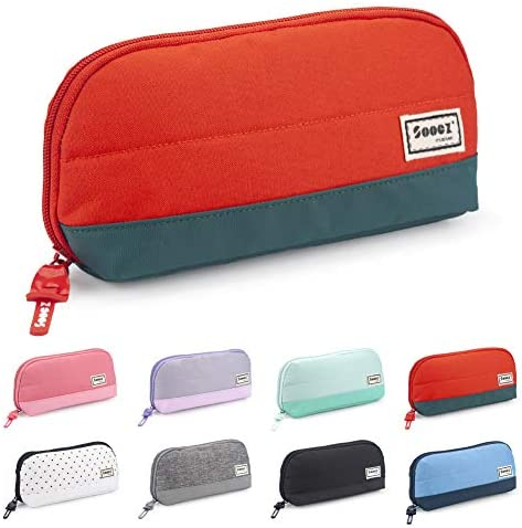 Sooez Wide Opening Pencil Pen Case Lightweight Spacious Pencil Pouch Zipper Stationery Bag Aesthetic product image