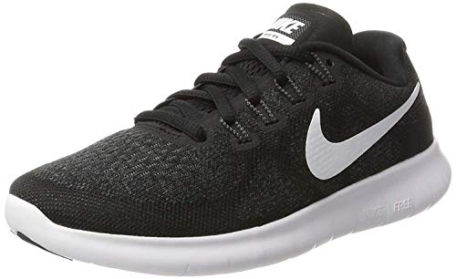 Nike Damen Free Running Laufschuhe, Schwarz (Black/White/Dark Grey/Anthracite 001), 38 EU