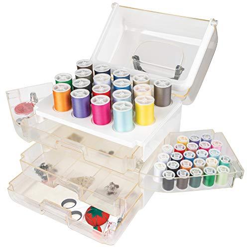 Singer Sew-It-Goes, 224 Piece - Sewing Kit & Craft Organizer - Sewing Case Storage with Machine Sewing Thread, White