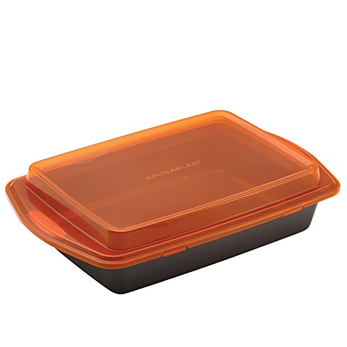 Rachael Ray Nonstick Bakeware with Grips Nonstick Baking Pan With Lid and Grips/ Nonstick Cake Pan...