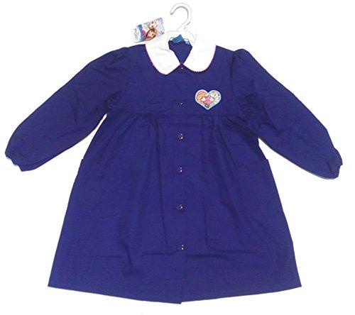 Grembiule Frozen Disney Bimba Blu Scuola primaria 7 Anni Altezza 122cm Spalla 33cm Bottoni