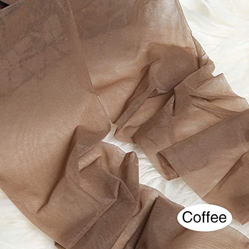 Kousen Stewardess kousen 3-D super-soft Matte Satin kwaliteit in de zomer kousen super-dunne onzichtbare anti-hook panty Hong (Color : Coffee, Size : One Size)