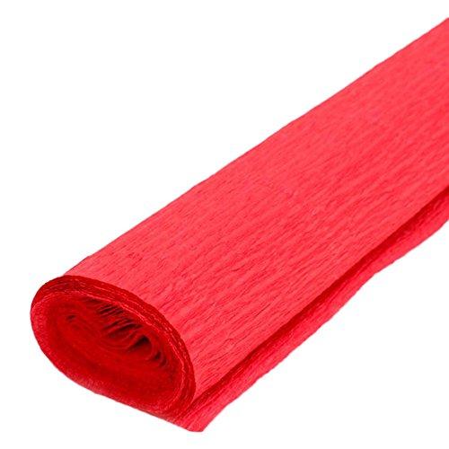 Gespout couleur Plier le papier DIY Matériaux faits à la main Papier fleurs papier a augmenté télescopiques Papier crépon Décoration 50*250cm