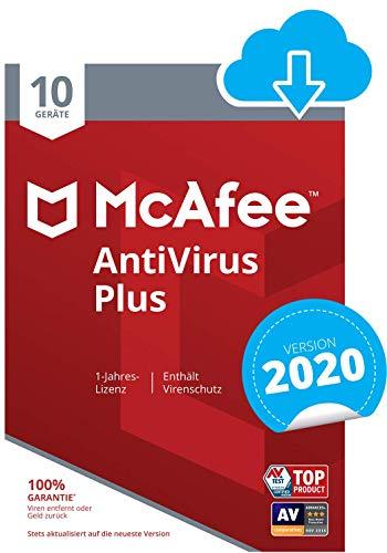 McAfee AntiVirus Plus 2021 | 10 Geräte | 1 Jahr | PC/Mac/Smartphone/Tablet | Aktivierungscode per Email