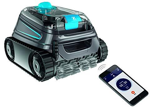 Zodiac CNX 30 iQ Robot limpiafondos para Piscinas (Fondo/Paredes/línea de Agua), Gris y Azul