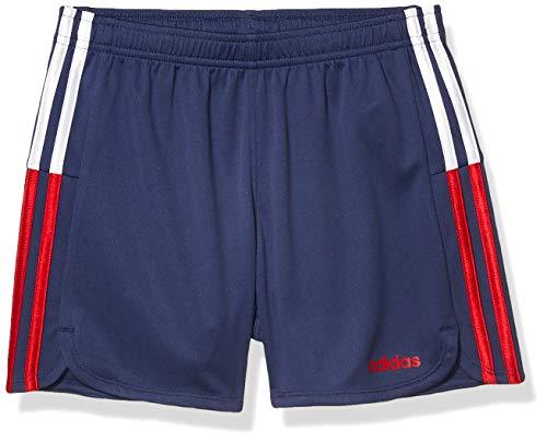 addias Girls' Toddler Active Sports Athletic Shorts, Clashing Stripe Navy, 3T