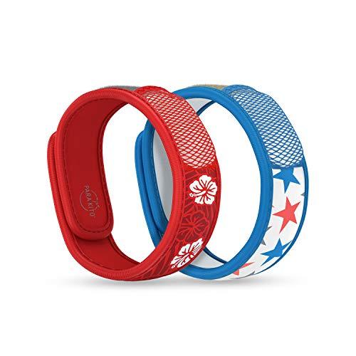 PARA'KITO Mosquito Repellent Pack - 2 Wristbands | 2 Refills (Hawaii + Stars)