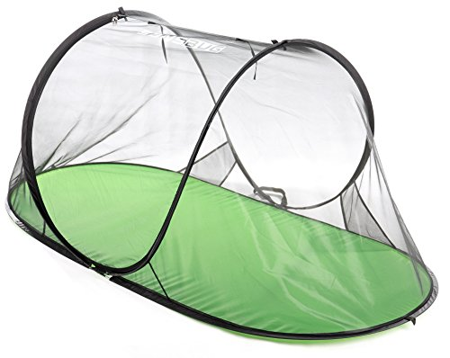 SANSBUG 1-Person Free-Standing Pop Up Mosquito Net (All-Mesh, Poly Floor)
