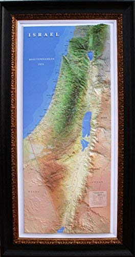 3D Bible Israel Relief Map Scientific Computer Raised (without frame) 47