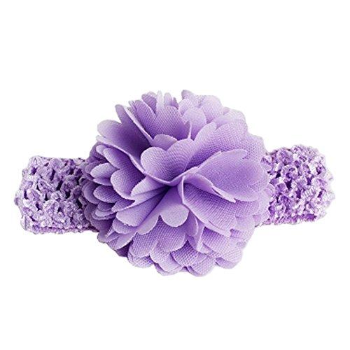 Bands Bandeaux filles Big Flower cheveux de bébé nouveau-né Bandeau, Violet