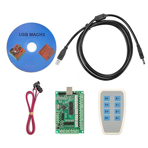 Micro USB Interface Controller Karte Breakout Board CNC MACH3 Motion Controller-Karte Einfach programmieren Modul mit Jog Handler für Gravierfräsmaschine Schrittmotortreiber Fräsmaschine Interface