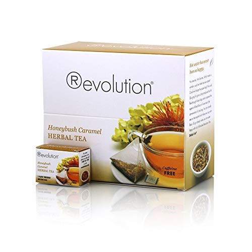 Revolution Tea - Honeybush Caramel Herbal Tea | Premium Full Leaf Infuser Teabags - Antioxidant Rich (30 Bags)