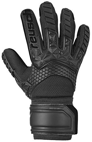 Reusch Kinder Attrakt Freegel S1 Junior Torwarthandschuhe, Black/Black/Black, 6.5