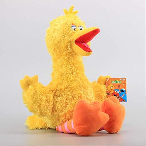 XIAOMOLAO Sesame Street Elmo Cookie Grover Peluches 42Cm, Pájaro Grande Zoe Ernie Peluches Niños Muñecas Suaves