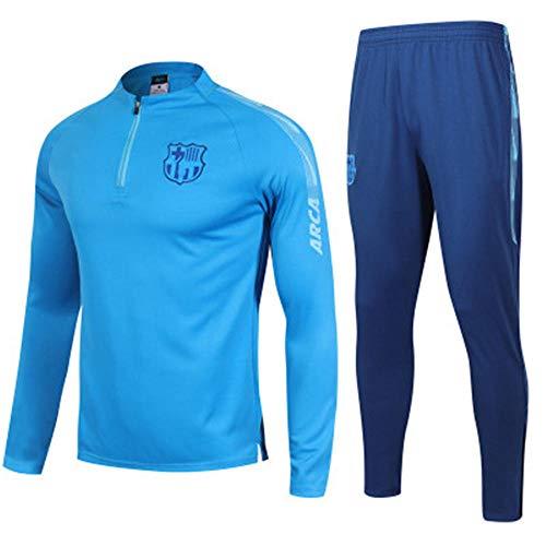 Club shirt met lange mouwen voetbalpak pak pak team spelen competitie trainingspak jas & broek blauw