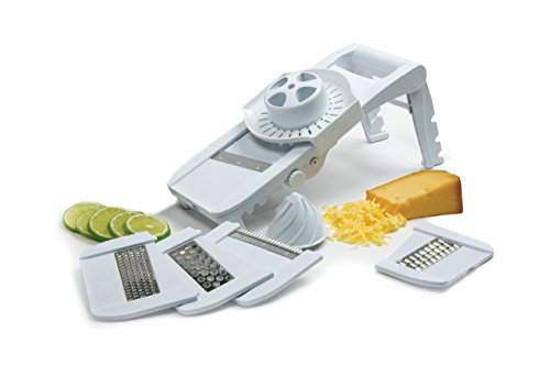 Norpro Deluxe Mandoline Slicer, Grater, Shredder, Julienne and Juicer w/Safety Guard