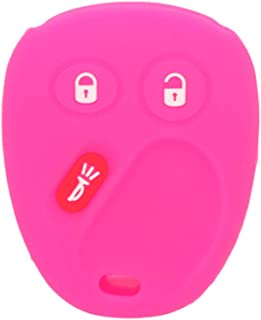 SEGADEN Silicone Cover Protector Case Skin Jacket fit for CHEVROLET GMC CADILLAC HUMMER SATURN PONTIAC 3 Button Remote Key Fob CV4610 Rose