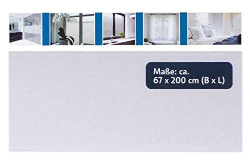 Melinera® Fenster Sichschuzfolie Milchglasfolie Selbstklebend 67 x 200cm ohne Muster