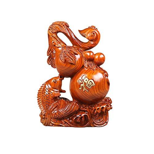 NYKK Estatuas de Feng Shui Adornos de Calabaza exquisitamente tallados Wu Lou Hecho a Mano Regalos de Negocios de Gama Alta para el hogar Office Desktop Feng Shui Estatua Adornos Estatua de Riqueza