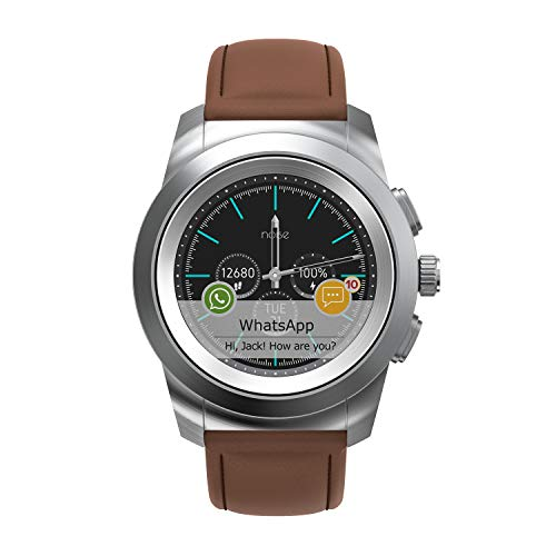 Noise NoiseFit Fusion Hybrid Smart Watch with Leather Strap (Vintage Brown)