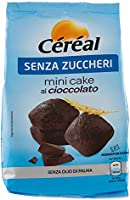 Céréal Mini Cake SENZA ZUCCHERO con Cioccolato UTZ, merendine dolci senza zuccheri - 200 g