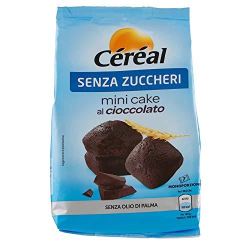 Céréal Mini Cake SENZA ZUCCHERO con Cioccolato UTZ, merendine dolci senza zuccheri - 196 g