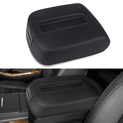 VANJING Compatible with Center Console Lid Armrest Cover Kit Chevy GMC Avalanche Silverado Tahoe Suburban Yukon Yukon XL Sierra 2007-2013 -Replaces 15217111 15941534