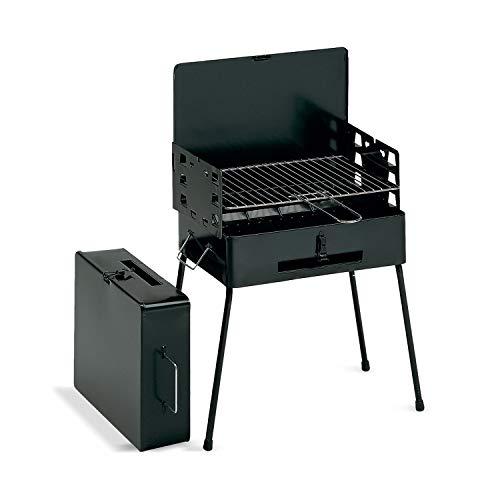 Pic-Nic - BBQ pieghevole a carbonella o legna con griglia da 40x30 cm
