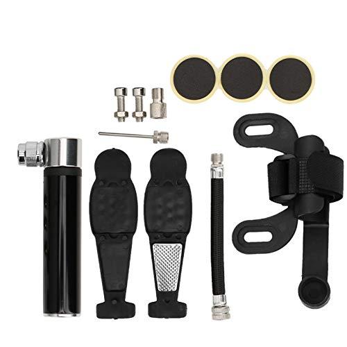 Alvinlite Bomba portátil para neumáticos de Bicicleta - Juego de reparación de inflador de neumáticos de Alta presión Mini Raod Mountainbike(Negro)