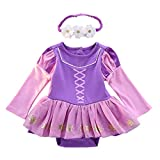 MYRISAM Christmas Costumes for Baby Toddler Girls Sofia The First Princess Birthday Bodysuit Romper Tutu Dress w/Headband 3-6M