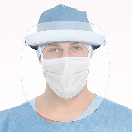 Thump 800 Micron Face Shield with Adjustable Elastic Strap Anti-Splash Protective Facial...