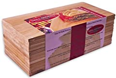 """Grill Gourmet Cedar Grilling Planks Textured Grilling Planks for More Smoke and More Flavor! 5.5"""" x 11.00"""" x 1/3"""" Upgraded Thickness! Grilling planks are only intended for single use 