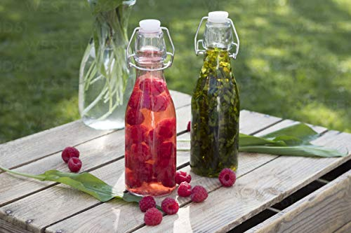 Tapa abatible, tapa abatible, cierre de clip superior para guardar botellas dispensadores 6 x 250 ml