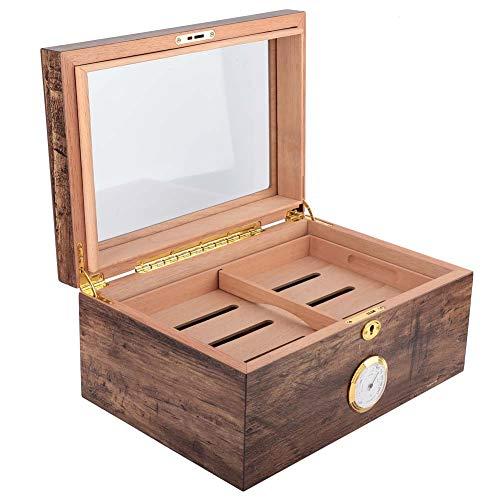 シガーケース、シガーストレージ用のパーソナルコレクション用のコンパクトサイズの木製ヒュミドールボックス気密デザイン