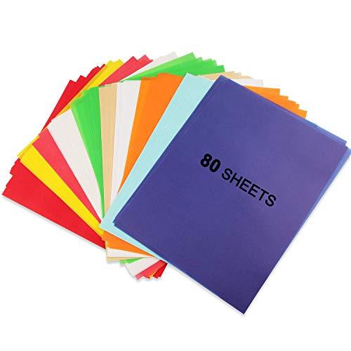 Papel Transparente, Papel Calco Bricolaje, 10 Colores, Papel de Color A4 De 100 g/m², Papel de Calco Transparente para Decoración de Dibujo, Papel de Dibujo para Manualidades de Decoración Creativa
