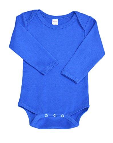 Monag Unisex Baby Bodysuits (0-3M, Royal Blue)