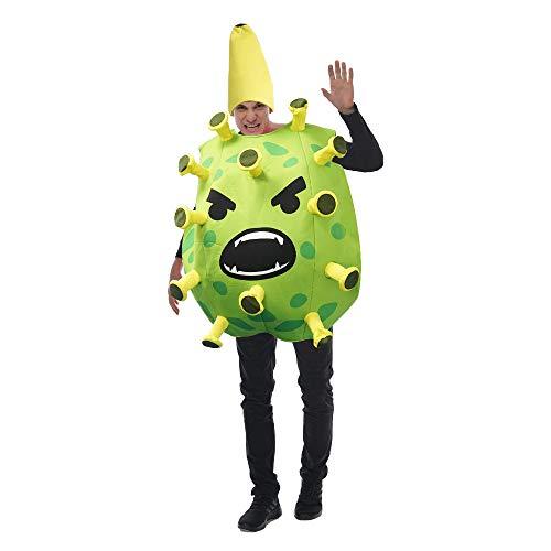 N\P Disfraz de Cosplay de Halloween coronavirus Disfraz de Fiesta Divertido Escenario de utilera de Fruta de dragn Rojo