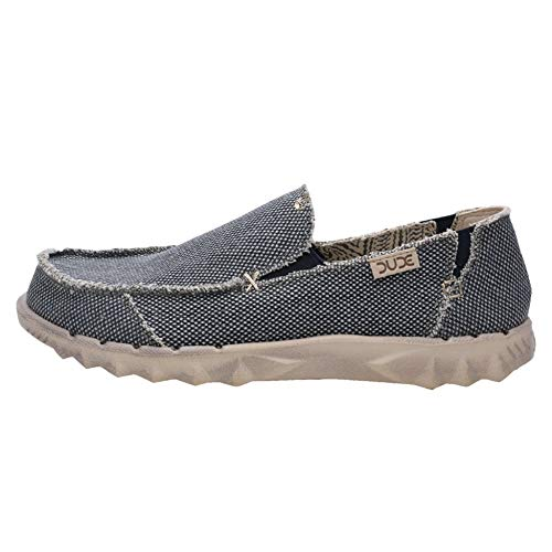 Dude Shoes Farty Uomo Naturale Cotone Organico Blu UK9 / EU43