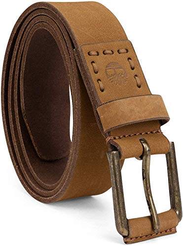 Timberland Men's Casual Leather Belt, Wheat, 44