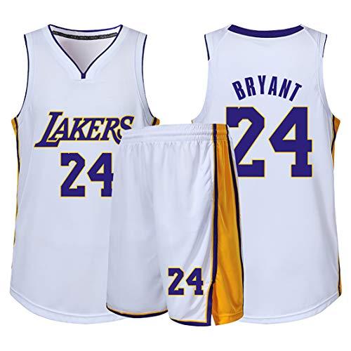 Fan-sport-sweatshirt voor mannen, Laker Bryant 24 tricot, hoogwaardige stof, vest en shorts voor volwassenen, herdenstil, echte ster