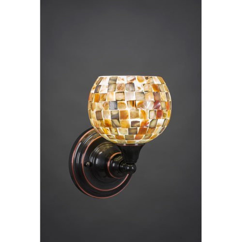 壁取り付け用燭台W 6で。貝ガラスシェード